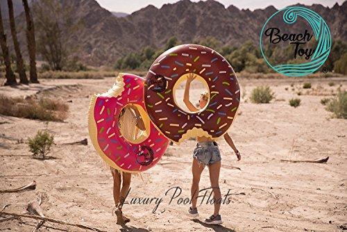 Beach Toy® - Set de 2 flotadores hinchables DONUT ROSA y DONUT...