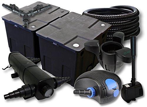 sunsun-filtro-set-60000l-stagno-con-24-w-chiarificatore-stagno-100-w-pompa-eco-25-m-tubo-skimmer-fon