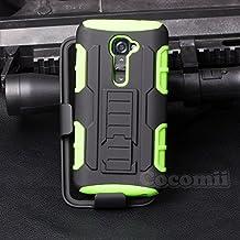 LG G2 Mini Funda, Cocomii Robot Armor NEW [Heavy Duty] Premium Belt Clip Holster Kickstand Shockproof Hard Bumper Shell [Military Defender] Full Body Dual Layer Rugged Cover Case Carcasa D618 D620 (Green)