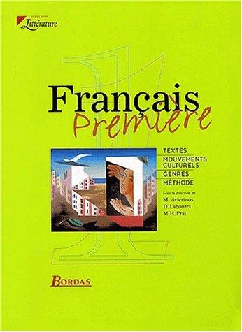 Français, 1ère. Livre de l'élève 2000 par Prat