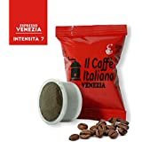 100 Cápsulas de Café compatibles Espresso Point sabor Café Venezia, 100 Cápsulas compatible con maquinas Espresso Point Paquete de 5x20 por un total de 100 Capsules, 100 cápsulas café molido,Il Caffè italiano