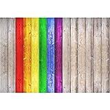 YongFoto 2,2x1,5m Vinilo Fondo de Fotografia Patrón Natural LGBT Vendimia Madera Rústica Textura De Pared De Madera Telón de Fondo Photo Booth Infantil Party Niños Photo Studio Props