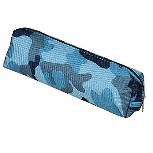 aipark búho caja de lápiz caso lápiz bolsas de cosméticos bolsa de viaje para maquillaje bolsa de almacenamiento, color Bule