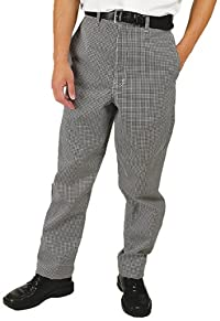 Phoenix CP-3-S Chef Pants, Small, Black and White Check
