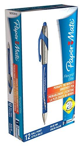 paper-mate-flexgrip-elite-penna-a-sfera-punta-media-blu-p-confezione-da-12-blue