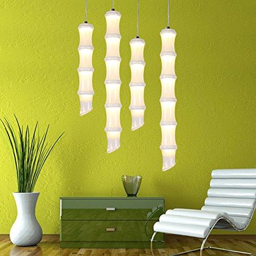 TIANLIANG04 Kronleuchter Der Kronleuchter Lampe Bar Bamboo Bamboo Bamboo Restaurant Long Barrel Single Head Zylindrische Leuchte Geformt, Die 4 Abschnitt (Abschnitt Single 4)