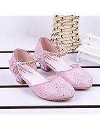 Wuyulunbi@ Zapatillas De Cristal Princesa Princesa Crystal Zapatos Zapatos Zapatos De Rendimiento Suave Princesa Zapatos Zapatos De Rendimiento Sandalias,Rosa,Us1.5 / Ue33 / Reino Unido14 Niños Pequeños