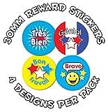 144 x 30mm French Praise awards - Childrens Reward Stickers - Schools,Teachers, Parents