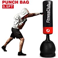Fitnessclub 5Ft 5.5Ft Free Standing Boxing Punch Bag Kick Heavy Duty MMA UFC Martial Art Training