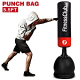 Fitnessclub 5.5Ft Heavy Duty Free Standing Boxing Punch Bag Kick MMA UFC Martial