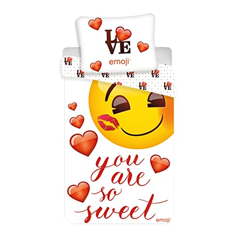 Jerry Fabrics - Bettwäsche-Sets, Emoji ''du bist so süß