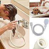 yaohome Haar Hund Pet Brausen Schlauch Badewanne Spüle Wasserhahn Befestigung Waschen Innen