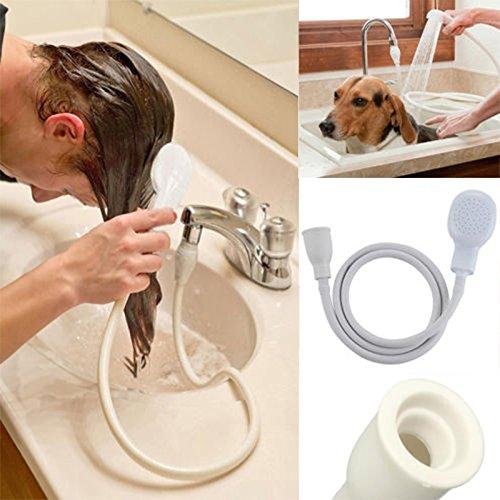 Wasserhahn Hund Waschen (yaohome Haar Hund Pet Brausen Schlauch Badewanne Spüle Wasserhahn Befestigung Waschen Innen)