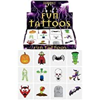 HENBRANDT 24 Halloween Tattoos/Transfers Trick or Treat Party Bag Fillers