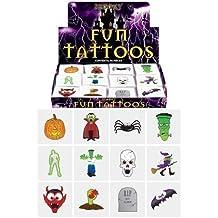 Tatuajes adhesivos para Halloween (24 unidades), 1 paquete