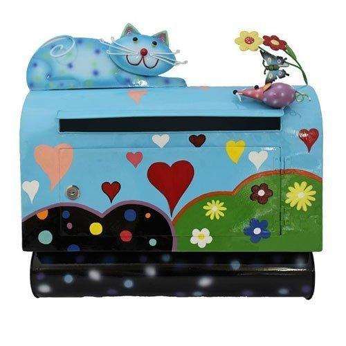 Briefkastenmodell mit Katze und Maus