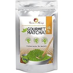 Matcha Tee Bio - 50g - Premium Ceremonial Gourmet Matcha Grade - Bio (kbA) - Matcha-Tee - Grüntee-Pulver - von TeeVomKap®