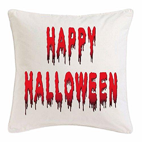 Reifen-Markt Kissenbezug 40x40cm Happy Halloween - KÜRBIS - Gespenster - SÜßES ODER SAURES - Oktober aus Mikrofaser in ()