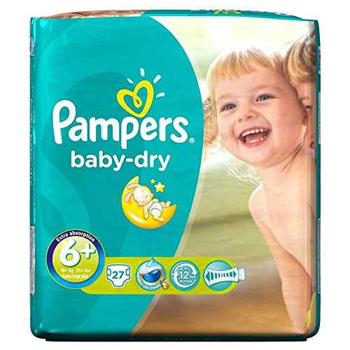 Preisvergleich Produktbild Pampers Baby Dry Größe 6+ Extra Large Plus-17kg + (27) - Packung mit 2