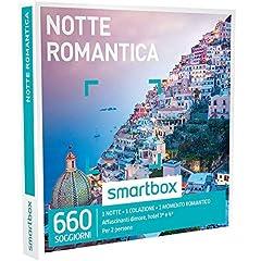 Idea Regalo - Smartbox - Notte Romantica - 660 Soggiorni in Dimore, Hotel 3* e 4*, Cofanetto Regalo