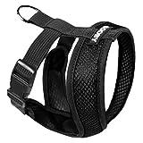 GOOBY Comfort X Hundegeschirr mit Mikrovelourslederbesatz und patentiertem X-Rahmen, Medium (9-15 lbs), schwarz