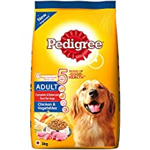 Pedigree Adult Dry Dog Food, Chicken and Vegetables, 3kg Pack