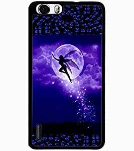 ColourCraft Beautiful Angel Design Back Case Cover for HUAWEI HONOR 6 PLUS