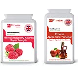 Himbeer Ketone 600mg-60 Kapseln + Apfelessig 500mg-120 Kapseln - UK Hergestellt nach GMP Garantierte Qualität - Geeignet für Vegetarier und Veganer von Prowise Healthcare