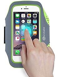 iPhone 7/7 Plus Armband, Mintale Lycra Fingerabdruck Touch unterstützt Running Training Gym Arm Band Schutzhülle für iPhone 7 6 Plus 6S Plus (14 cm), Galaxy S6 S5