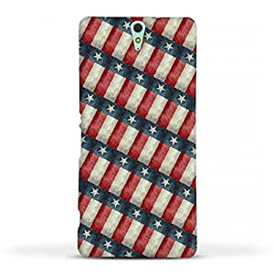 FUNKYLICIOUS Sony Xperia C5 Back Cover Retro Style Texas State Flag Pattern Design (Multicolour)