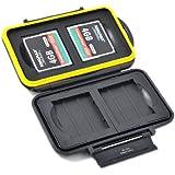 JJC MC-CF4 - Speicherkarten Schutzbox für 4 x Compact Flash Karten (CF Cards) - Wasserdicht Box Safe Tasche Etui Aufbewahrungsbox Hülle