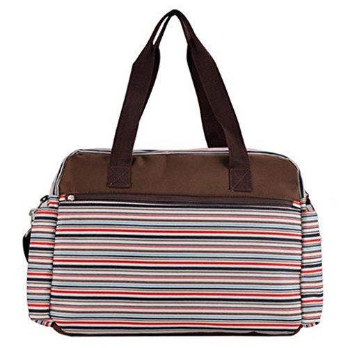 Wickeltasche Pflegetasche Kinderwagen Muttertasche Babytasche Wasserdichte Tragbare Mama Windeltasche Mit Wickelunterlage Rot - Rot Rot
