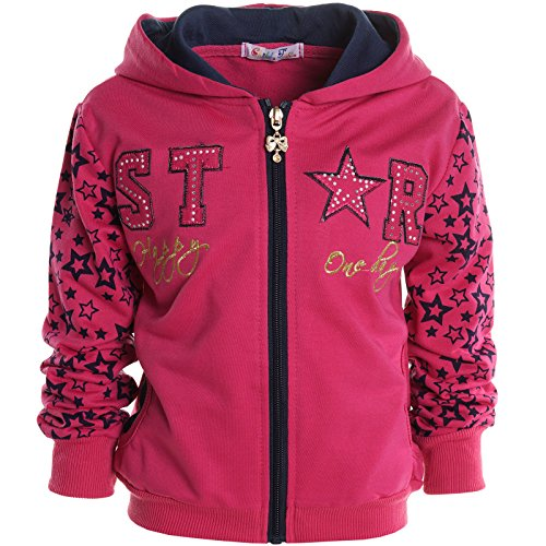 BEZLIT -  Felpa con cappuccio  - Camicia - Basic - Collo a U  - Maniche lunghe  - ragazza Rosa 8 anni