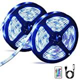 Tiras LED 6M, OMERIL Impermeable Tira LED USB con Control Remoto, 5050 RGB LED Strip con 4 Modos y...