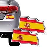 Pegatina Adorno Coche Bandera España