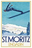 St Moritz ski blechschild, tin sign, geschenk
