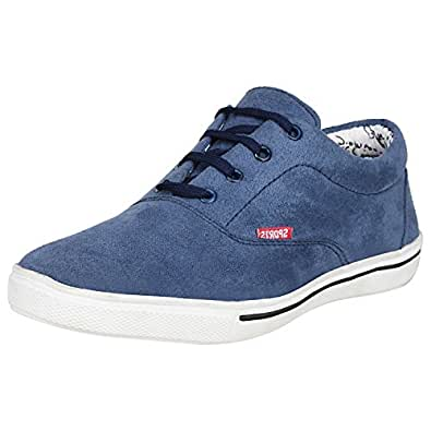 Kraasa Men's Light Blue Canvas Sneaker Shoes - UK 6