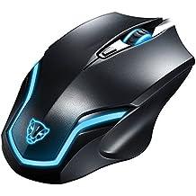 KLIM Pro IV ratón con cable para gaming LED de alta precisión de 2000 PPP para jugador ambidiestro USB con retroiluminación