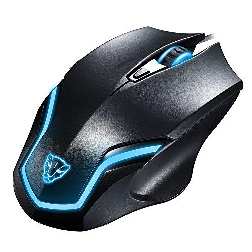 KLIM Pro IV Mouse per Videogiocatori Alta Precisione LED 2000 DPI per giocatori ambidestri con retroilluminazione