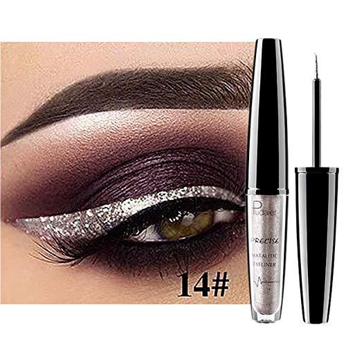 Liquid Glitter Eyeliner Metallic Shimmer Glitter Eyeshadow Pigment Eyebrown Shimmer Wasserdichtes...
