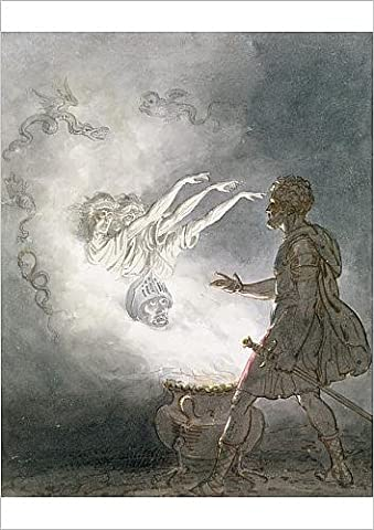 Fine Art Print of Macbeth and the Apparition of the Armed Head, Act IV, Scene I, from