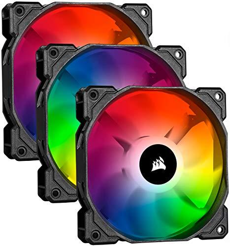 Corsair iCUE SP120 RGB PRO, 120mm LED RGB, Silencieux, Flux d'air élevé, Ventilateur de Refroidissement (Triple Pack)