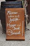Edelrost Tafel Männer gewellt Spruch Geschenk Schild Garten Wanddeko Handarbeit -