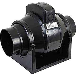 Manrose MF100T Mixed Flow In-Line Extractor Fan with Timer (for use with 100mm / 4 Inch Ducting)