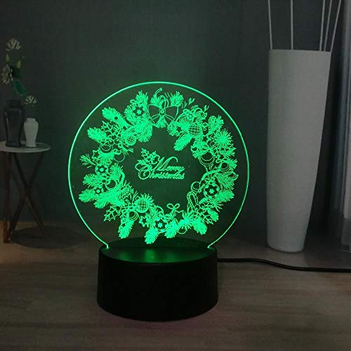 Novel Sweet Holiday Series Decoration Atmosphere LED Touch Remote Dazzle 7 Color Change Night Table Lamp Christmas New Year Gift -