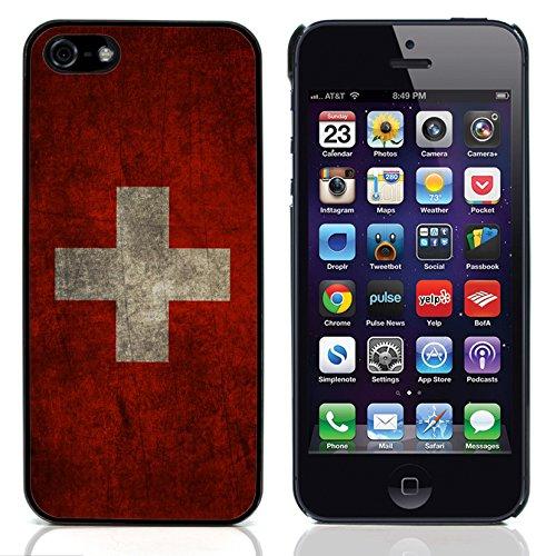 Graphic4You Vintage Uralt Flagge Von Deutschland Deutsch Design Harte Hülle Case Tasche Schutzhülle für Apple iPhone 5 und 5S Schweiz Schweizer
