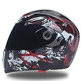Adulte Coffre-Fort Casque De Moto Hommes Course De Motocross avec Intérieure Visière De Soleil Star Lord Casque Modulaire Icône Casque