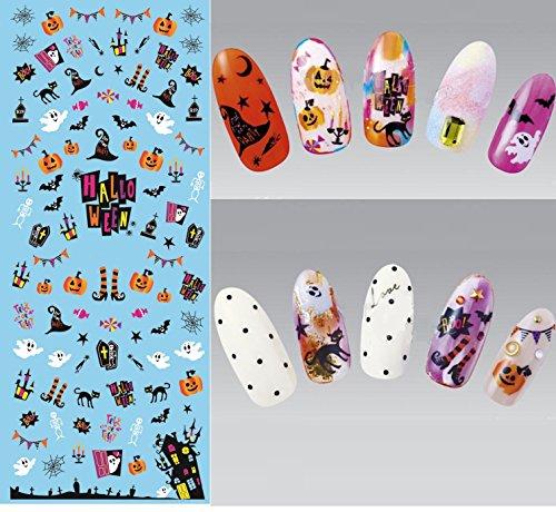 Nail Art Wasser Transfer Sticker Nail Sticker Tattoo Halloween - DS246 Nail Sticker Tattoo - FashionLife