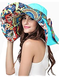 6939f3a45bbc Casquette Visière Chapeau de Plage Coloré Large Bord Anti-UV Sun Hat Brim  Vacances Capeline