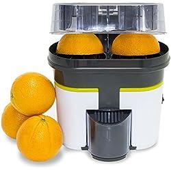 Turbo-exprimidor Cecojuicer Zitrus de doble cabezal que también corta la fruta.